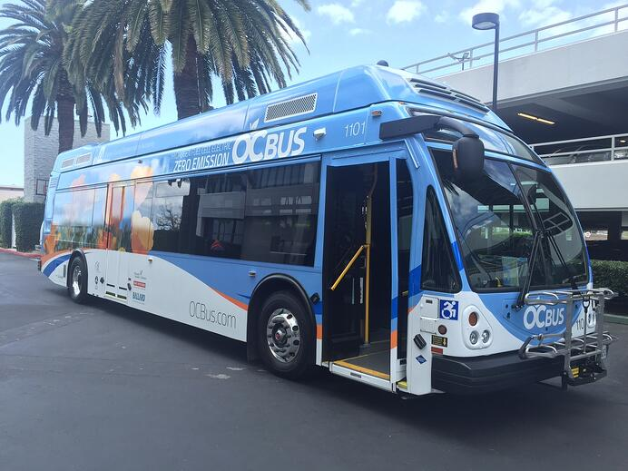 Orange County Ballard fuel cell bus