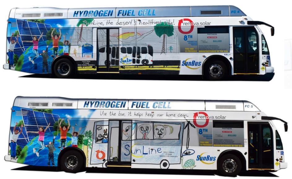 SunLine Transit's fuel cell bus art