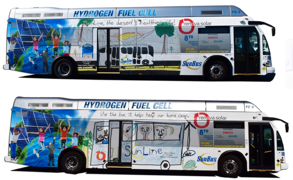 SunLine Transit's fuel cell bus art