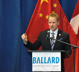 Ballard CEO speaking in China