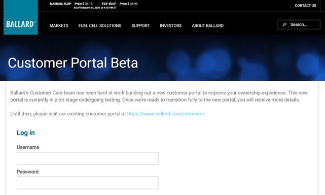 ballard-customer-portal