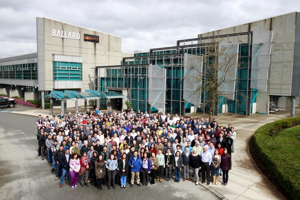 The team at Ballard headquarters in Vancouver