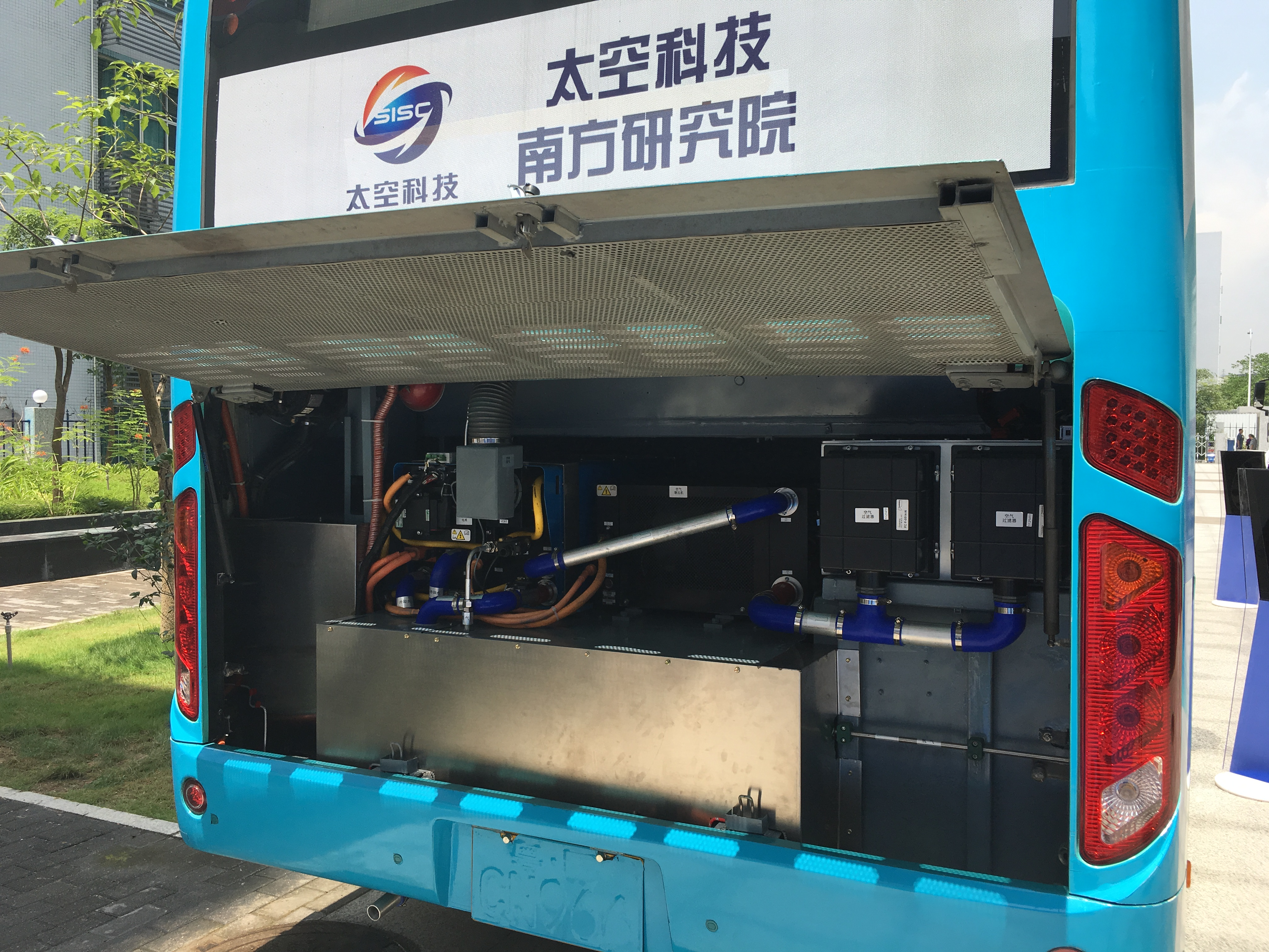 Hydrogen electric powered bus