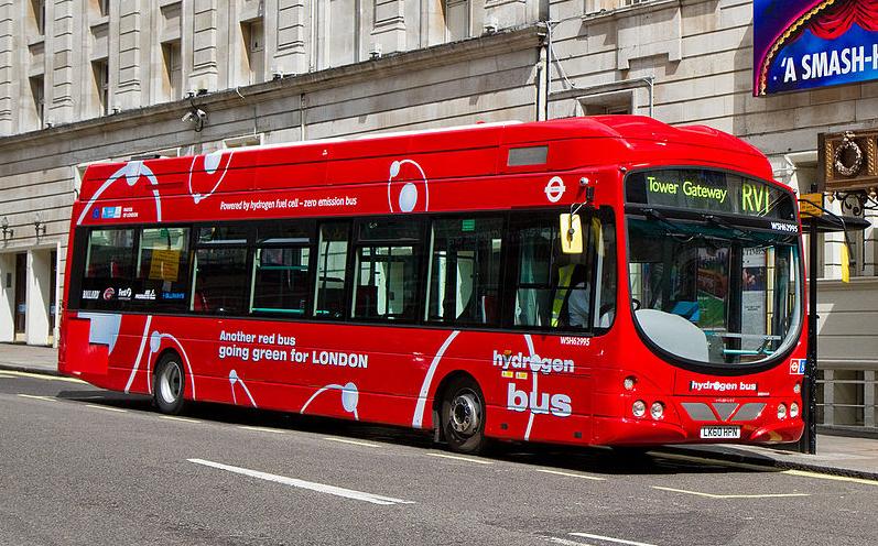 Zero emission bus in London, UK